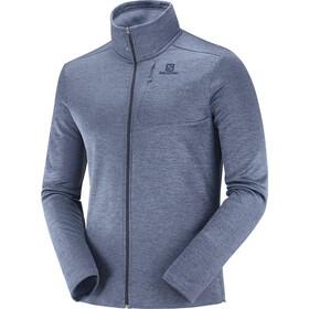 Salomon Transition Full Zip Mid Jacket Men night sky/heather